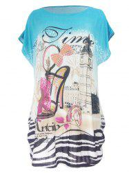 Pumps Print Loose-Fitting T-Shirt -