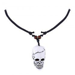 Resin Skull Pendant Necklace -