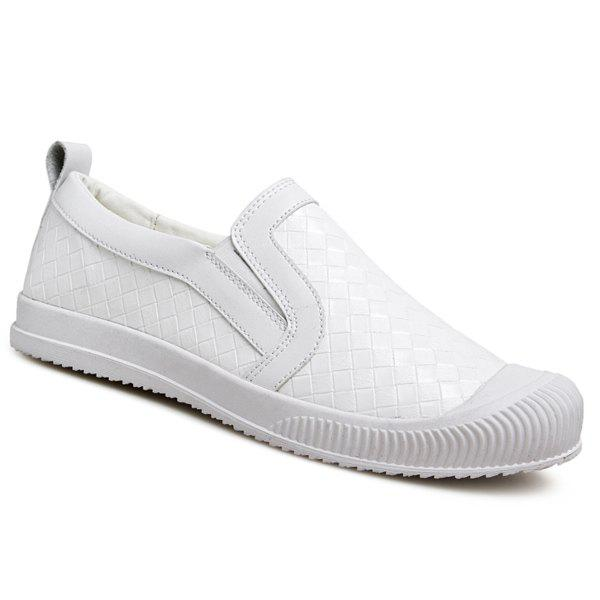 Discount Stylish Lattice Pattern and Slip On Design Casual Shoes For Men