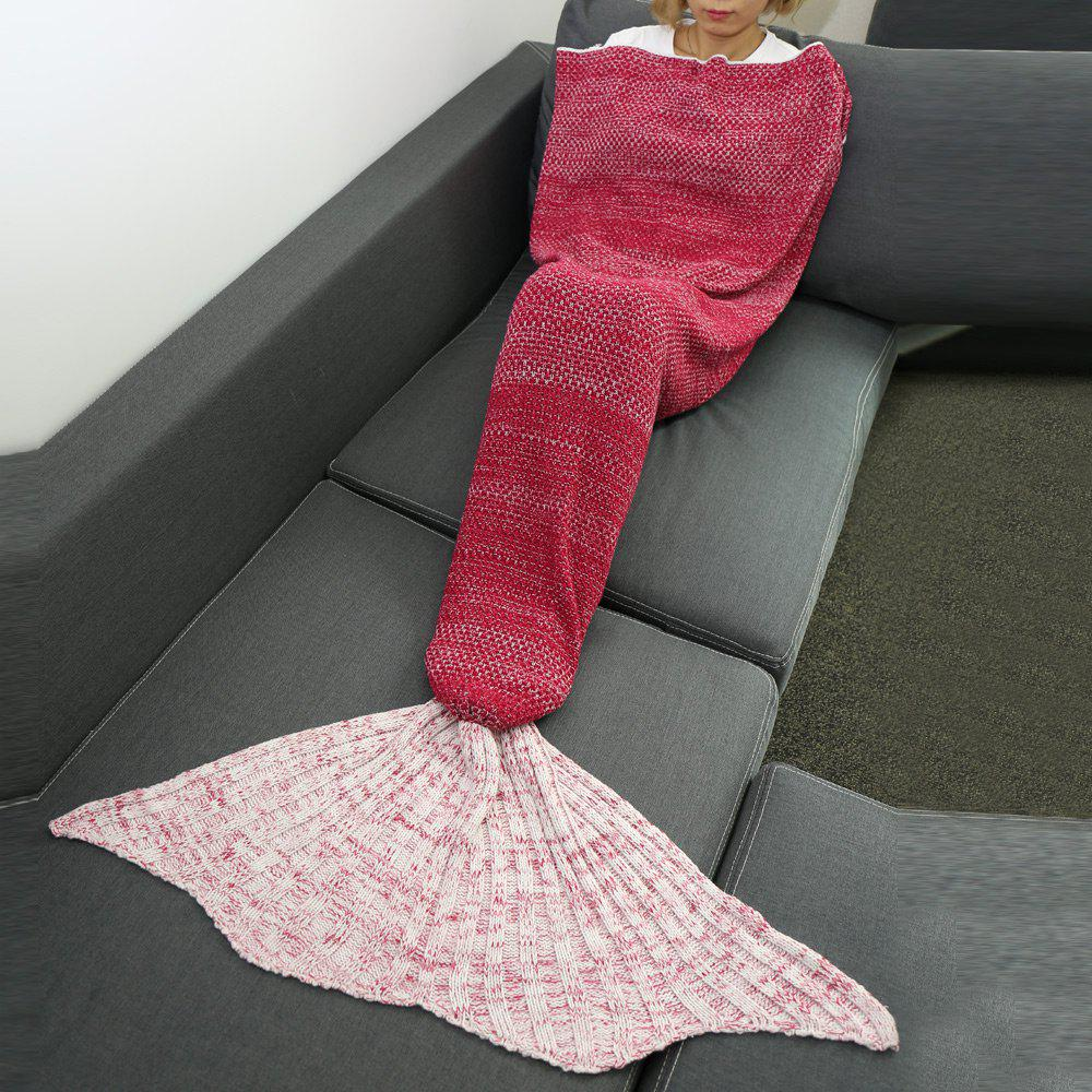 Shops High Quality Knitted Warmth Comfortable Mermaid Tail Blanket