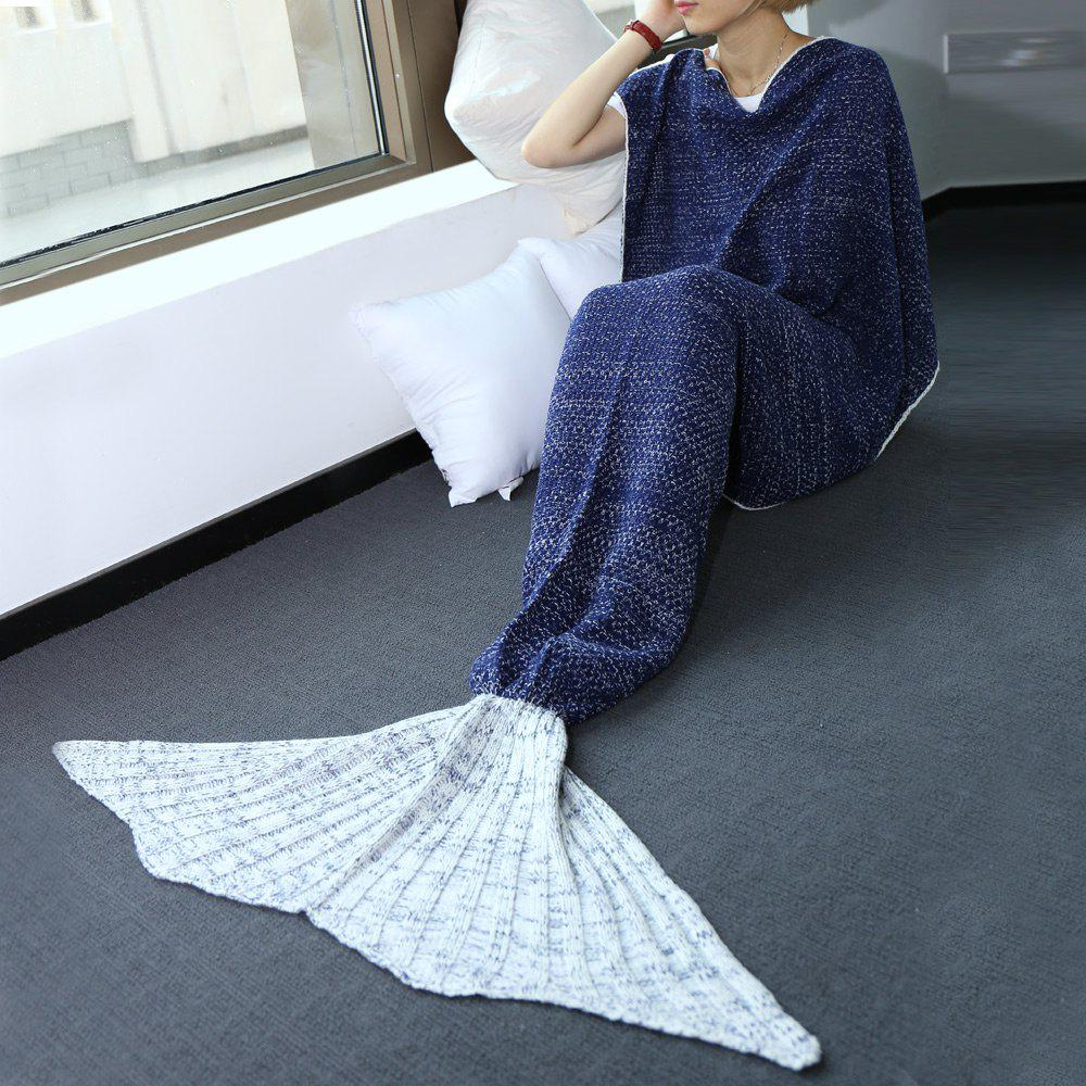 Sale High Quality Knitted Warmth Comfortable Mermaid Tail Blanket