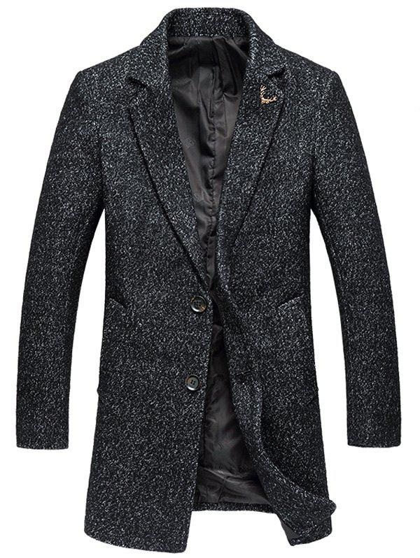 Plus Size Coat Lapel Single-breasted Cotton Blends à manches longues en laine
