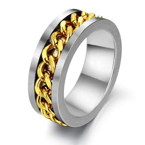 Link Chain Charm Steel Ring