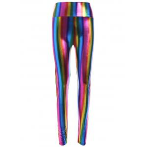 Skinny Rainbow Colored High-Waist Pants