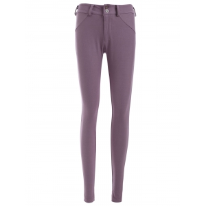 Low Waist Button Design Pencil Pants