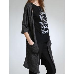 Asymmetric Button Design Long Cardigan