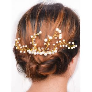 Faux Pearl Rhinestone Party Hair Comb