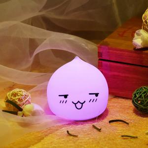 Colorful LED Waterdrop Emoticon Cartoon Ombre Night Light - Colorful