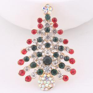 Christmas Trees Brooch - Colorful