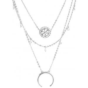 Multilayered Alloy Blossom Beads Circle Necklace -