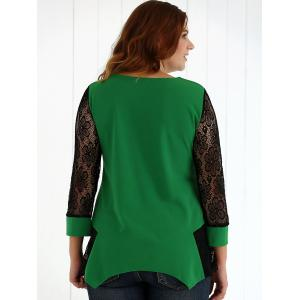 See-Through Lace Asymmetric Blouse -