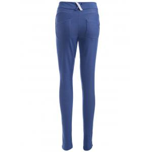 Low Waist Button Design Pencil Pants -