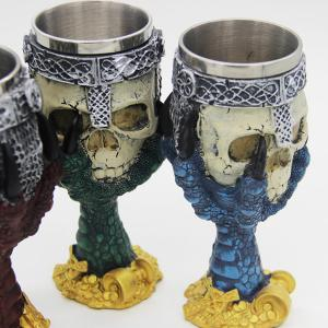 3D Drinkware Hawk Claw Support Skull Shape Goblet -