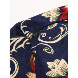 Long Sleeve All-Over Floral Printed Shirt - COLORMIX 3XL