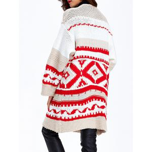 Loose-Fitting Tribal Jacquard Cardigan -