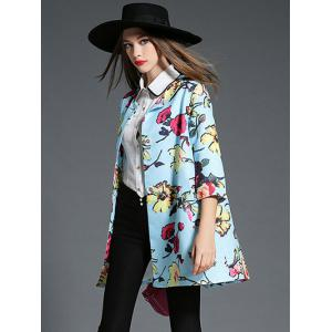 Single Breasted Print Coat -