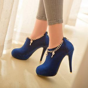 Stiletto Heel Zipper Pumps -