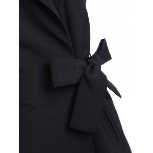 Belted Wrap Coat and Sundress Twinset -