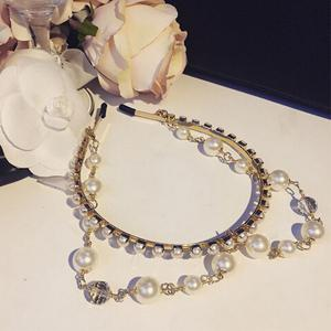 Different Sizes Faux Pearl Layered Hairband -