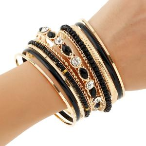 Rhinestone Beaded Layered Bracelets -