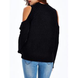 Textured Cold Shoulder Sweater -