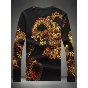 Round Neck Dragon Pattern Sweater -