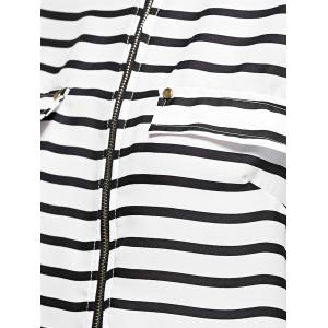Zip Front Striped Blouse -