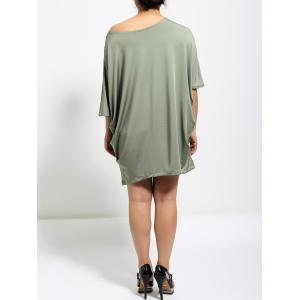 Batwing Sleeve Ruched Baggy  Dress -