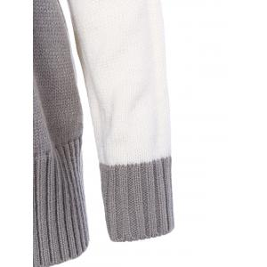 Turtleneck Loose-Fitted Color Block Sweater -
