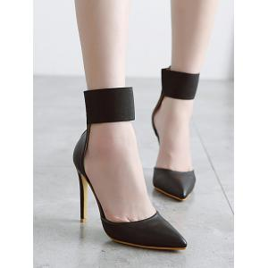 Stiletto Heel Elastic Band Pumps -
