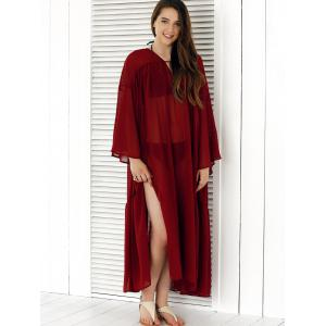 See-Through Split Cover-Up -