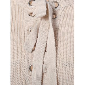 Criss-Cross Short Sweater - OFF WHITE ONE SIZE