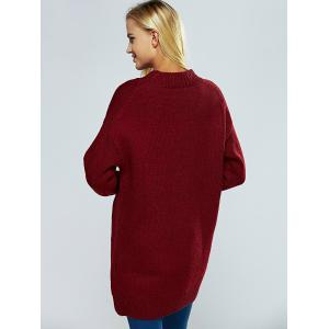 Round Neck Ribbed Long Sweater -