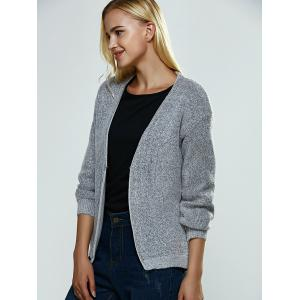 Heather Knitted Ribbed Cardigan -