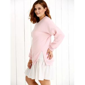 False Two Piece Frilled Sweater Dress -
