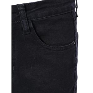Frayed Trim Bootcut Jeans -