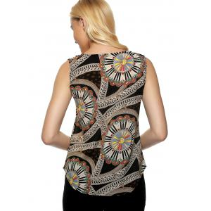 Tribal Pattern Colormix Tank Top -