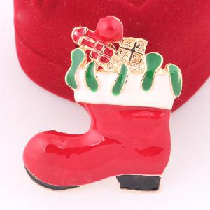 Christmas Boot Brooch - RED
