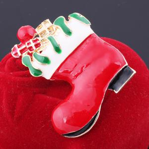 Christmas Boot Brooch -