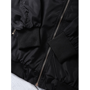 Stand Collar Zip Up  Jacket -