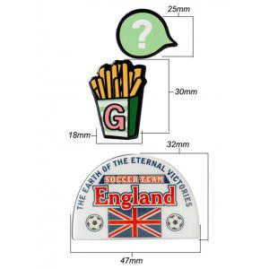 Angleterre de football français Brooches Fries Pattern -