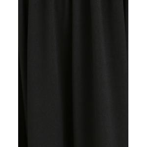 Cold Shoulder High Slit Maxi Dress - BLACK XL