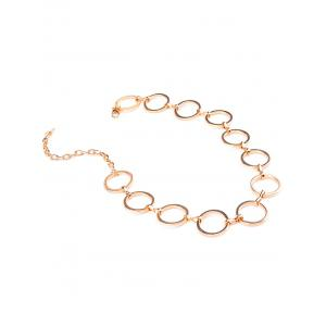 Alloy Circle Hollow Out Choker Necklace -