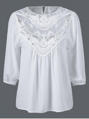 Lace Patchwork Embroidery Loose Blouse