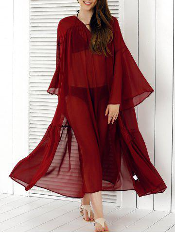 Discount See-Through Split Cover-Up