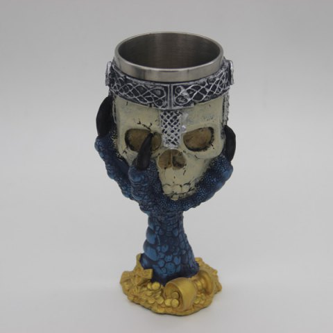 Best 3D Drinkware Hawk Claw Support Skull Shape Goblet