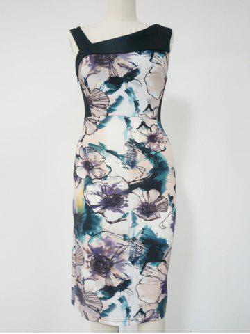 Outfit Floral Print Sleeveless Pencil Dress