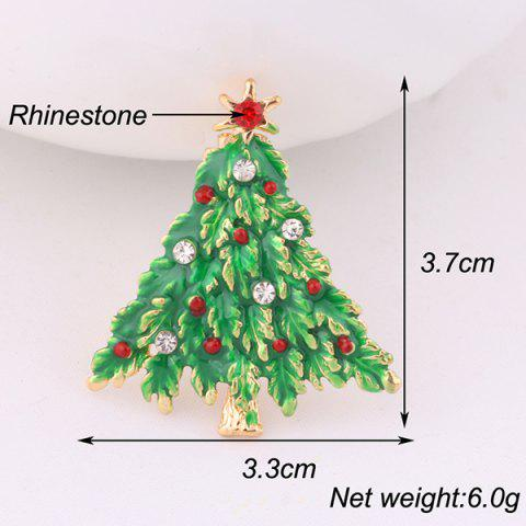 Outfit Christmas Tree Brooch - GRASS GREEN  Mobile