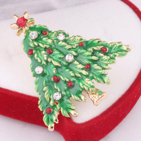 Affordable Christmas Tree Brooch - GRASS GREEN  Mobile