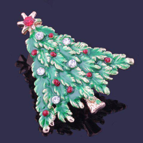 Discount Christmas Tree Brooch - GRASS GREEN  Mobile